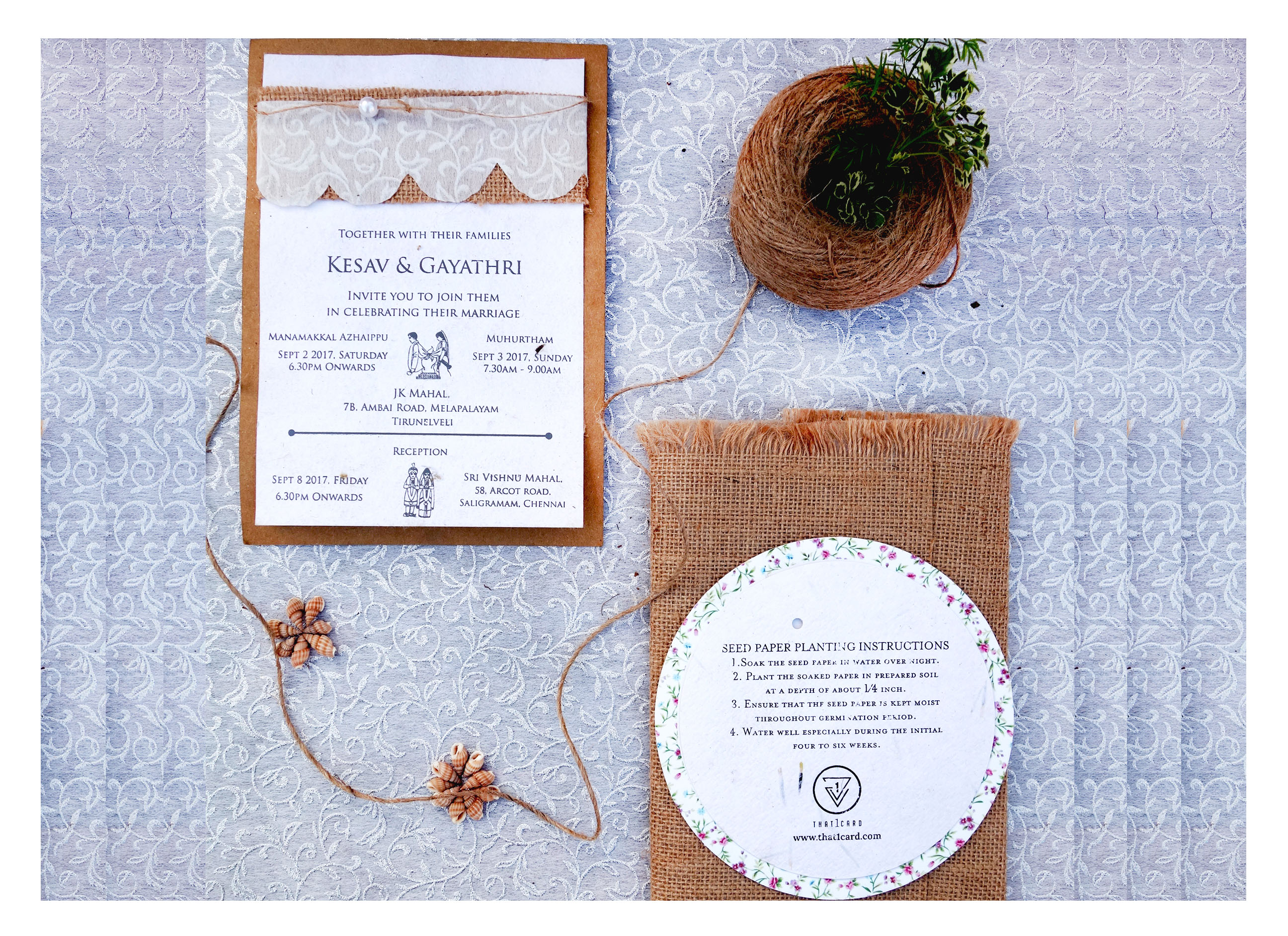 That1card | Eco-friendly invitations | Jio invitations | Recycled